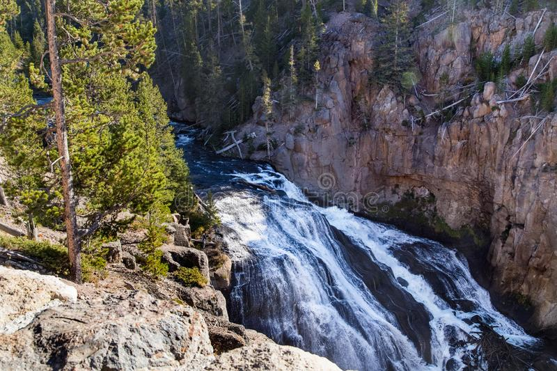 Yellowstone canyon, river, landscape.Wyoming, USA royalty free stock images