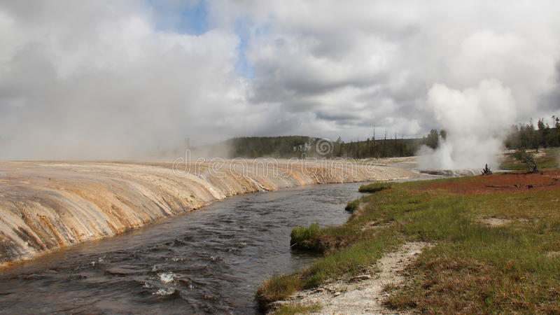 Yellowstone - Firehole-Rivier stock afbeelding