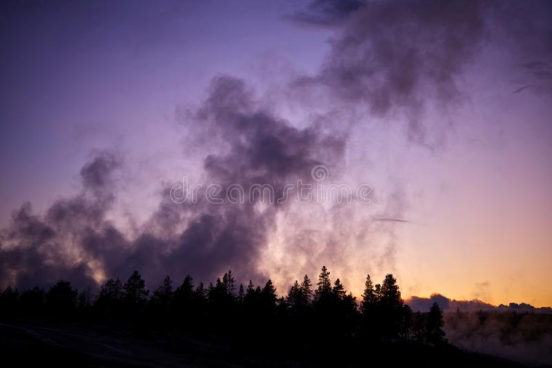 Yellowstone Geysers stock photos