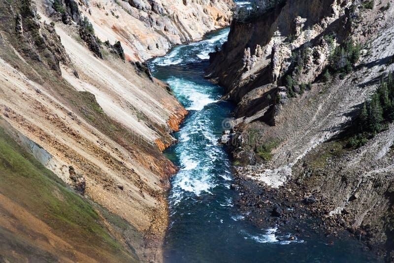 Yellowstone jar, rzeka, krajobraz Wyoming, USA zdjęcia stock
