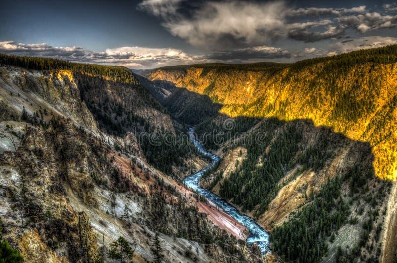 Yellowstone kanjon arkivbild
