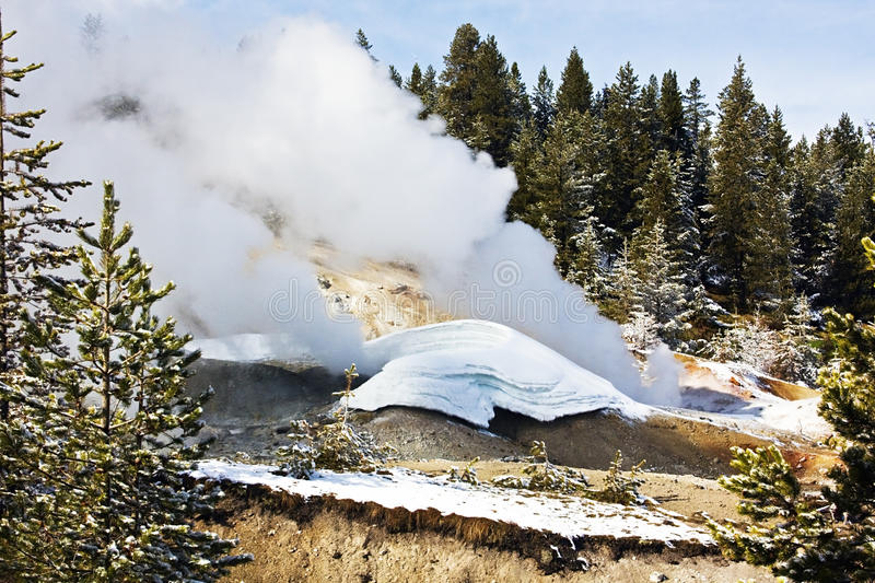 Download Yellowstone National Park stock photo. Image of snow - 12507870