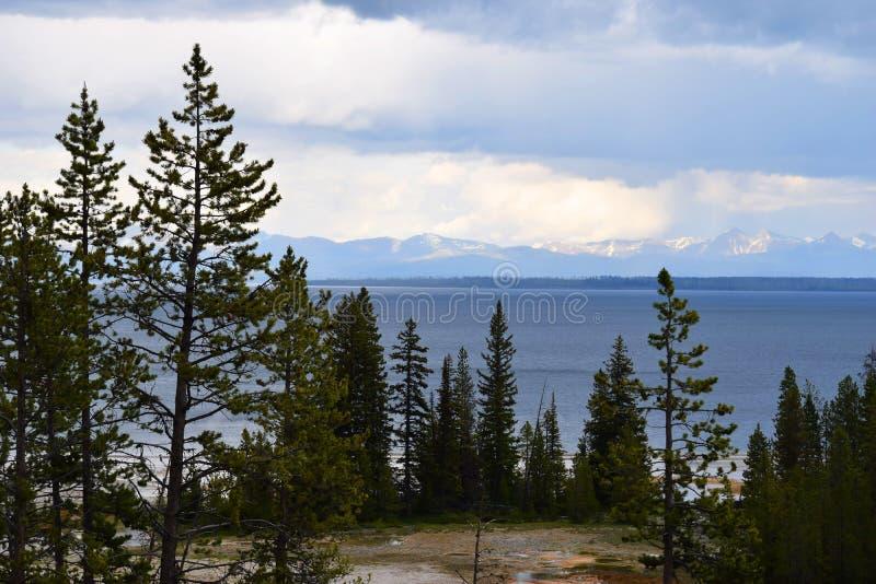Yellowstone National Park Lake View Wyoming USA royalty free stock photography