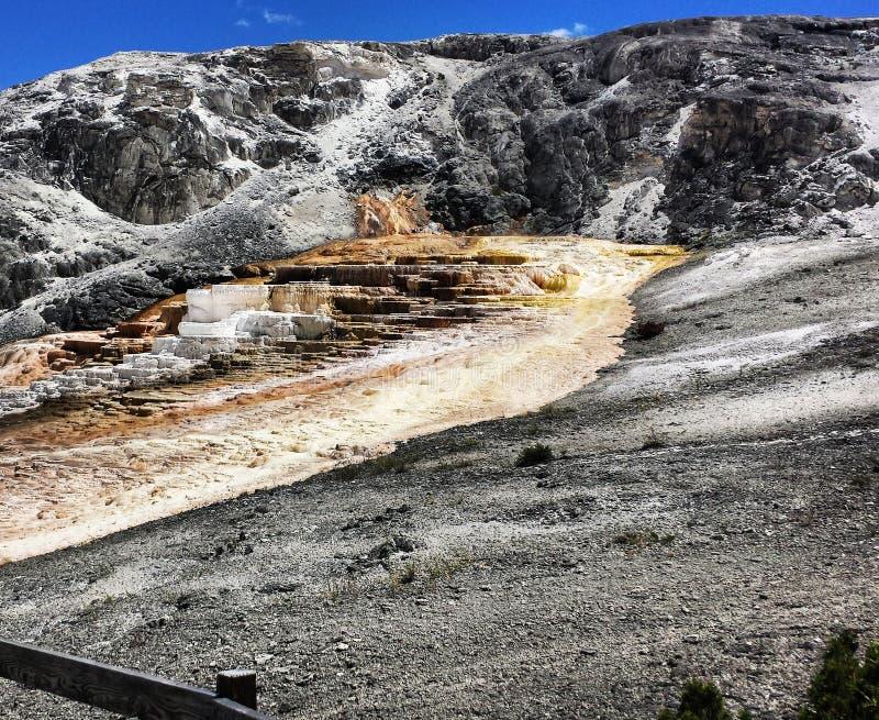 Yellowstone National Park. Mammoth Hot Springs royalty free stock photo