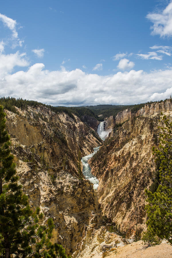 Yellowstone National Park Panorama. Yellowstone National Park is a national park located primarily in the U.S. state of Wyoming, although it also extends into royalty free stock images