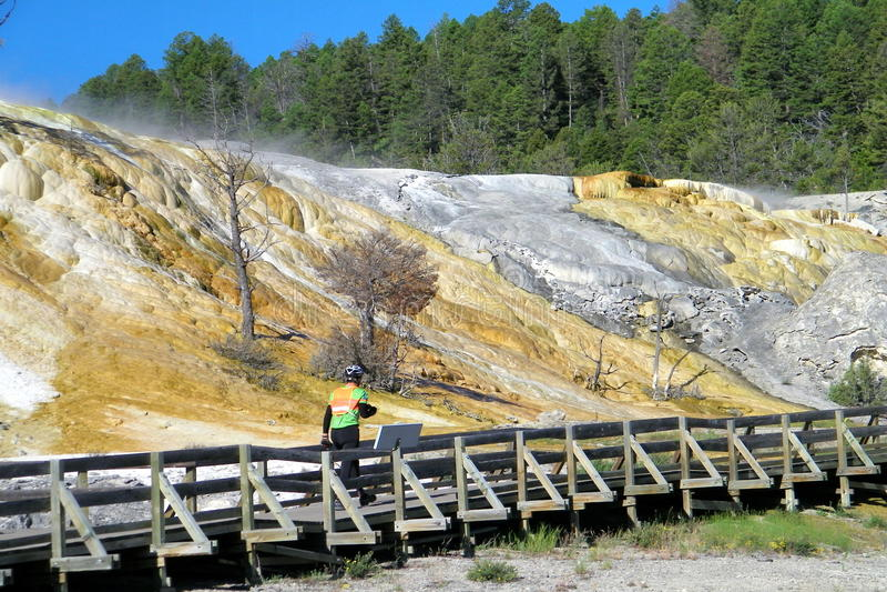 Yellowstone Nationalpark Geysire 6 lizenzfreie stockbilder
