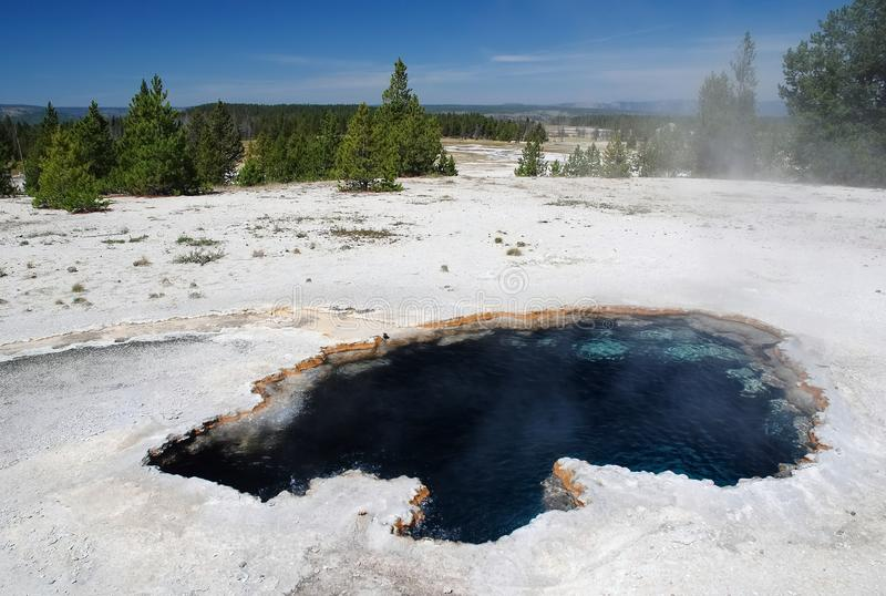Yellowstone nationalpark, USA arkivfoton