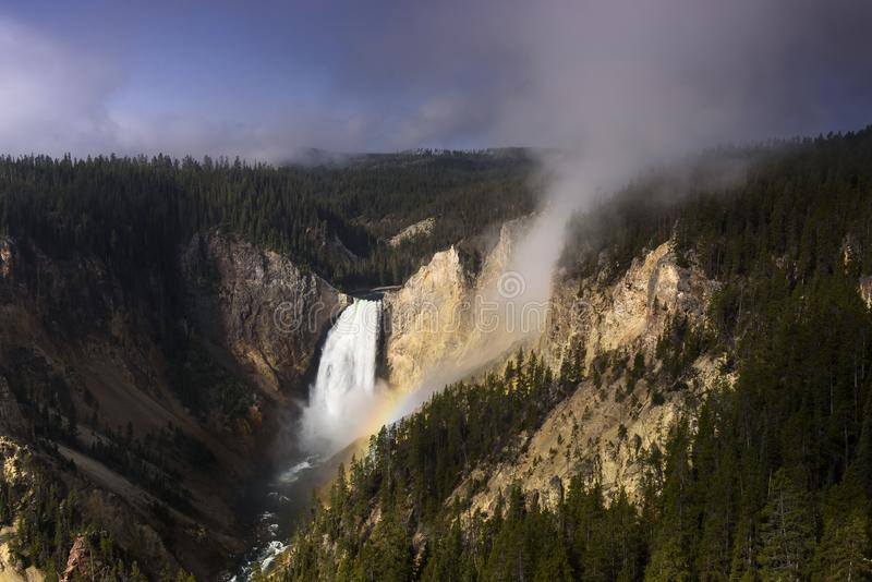 Yellowstone niski spadek w lato ranku fotografia stock