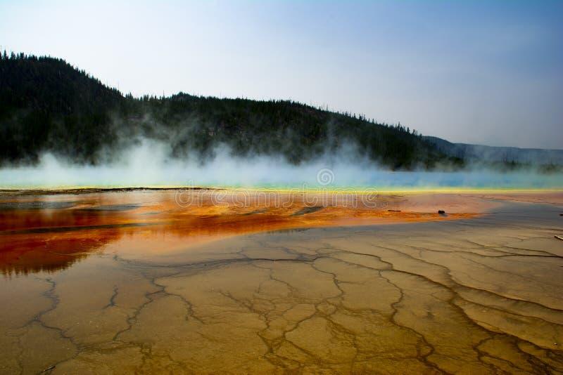 Yellowstone parka narodowego gejzer 2 fotografia royalty free