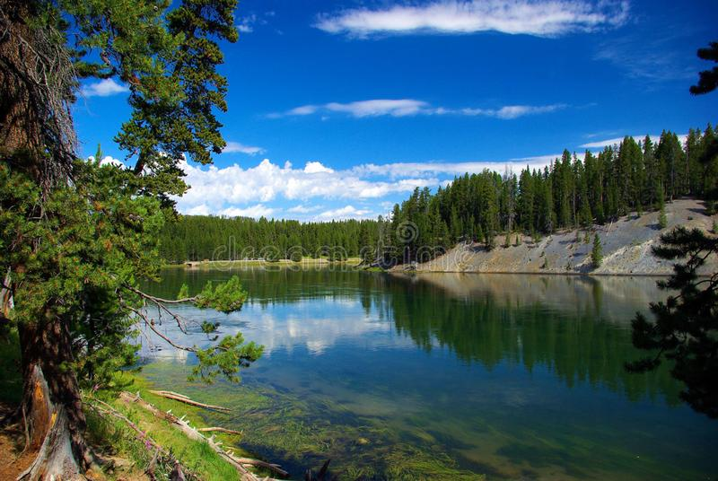 Yellowstone River, Yellowstone National Park (a UNESCO World Heritage Site, Wyoming, August 7, 2010 stock image