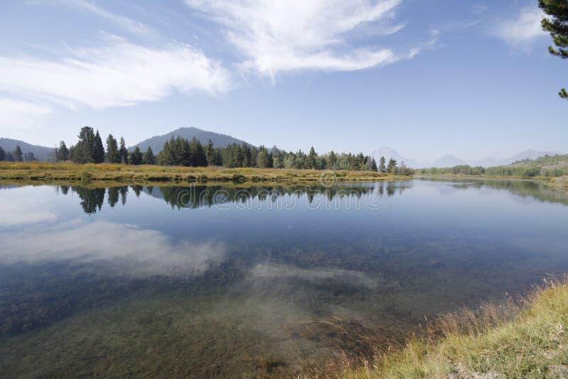 Yellowstone tusen dollar Tetons arkivbild