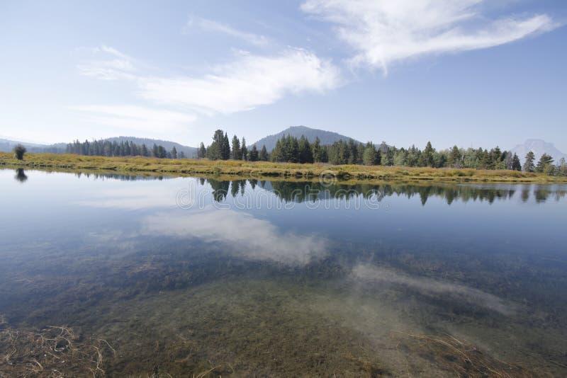 Yellowstone tusen dollar Tetons arkivfoto