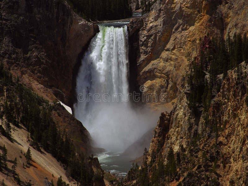 Yellowstone vermindert dalingen royalty-vrije stock foto's