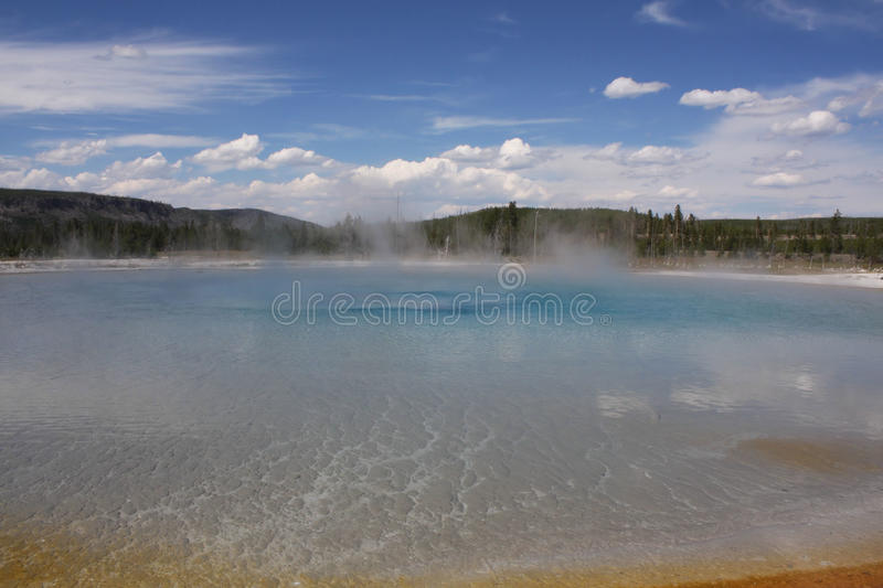 Yellowstone, WY mineral pool royalty free stock photography