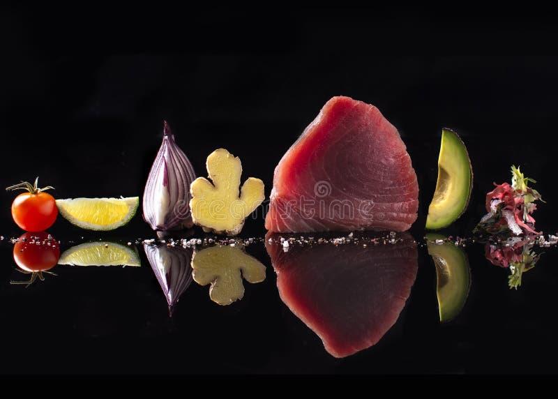 Yellowtail sashimi τόνου βαθμός στοκ φωτογραφία