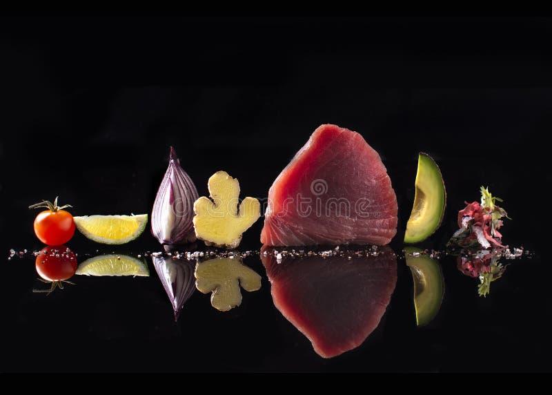 Yellowtail tonfisksashimikvalitet royaltyfria foton