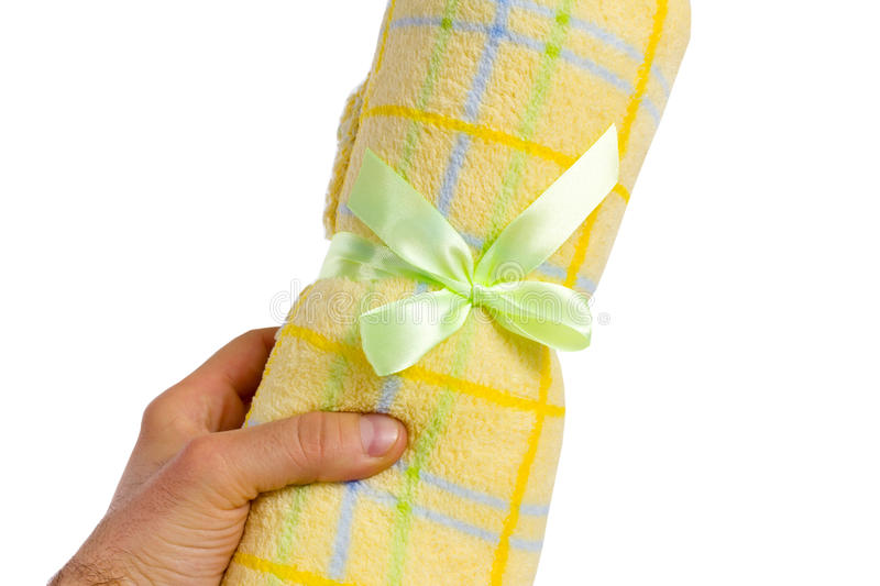 Download Yelloy towel in hand stock photo. Image of cleaning, hand - 24821386
