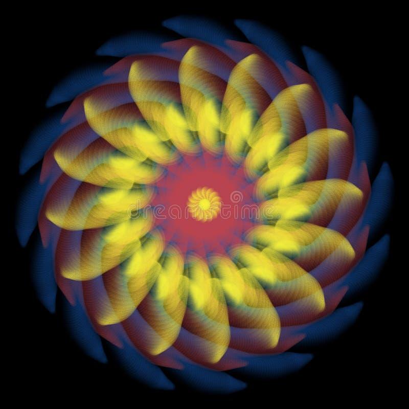 Yelow för genomskinlig kombination för blomma genomskinlig röd blå royaltyfri illustrationer