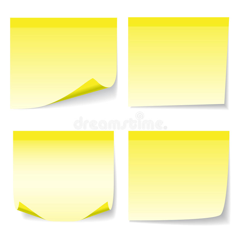 Download Yelow sheet of paper stock vector. Image of bend, backdrop - 29437463