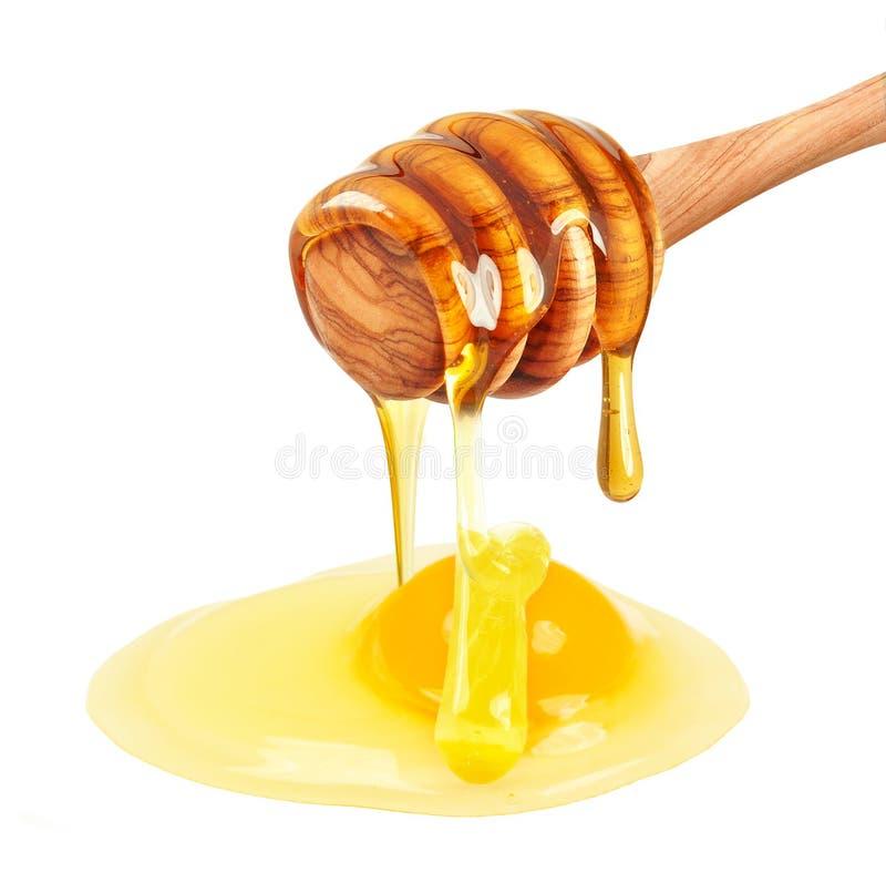 Yema y miel de huevo imagen de archivo