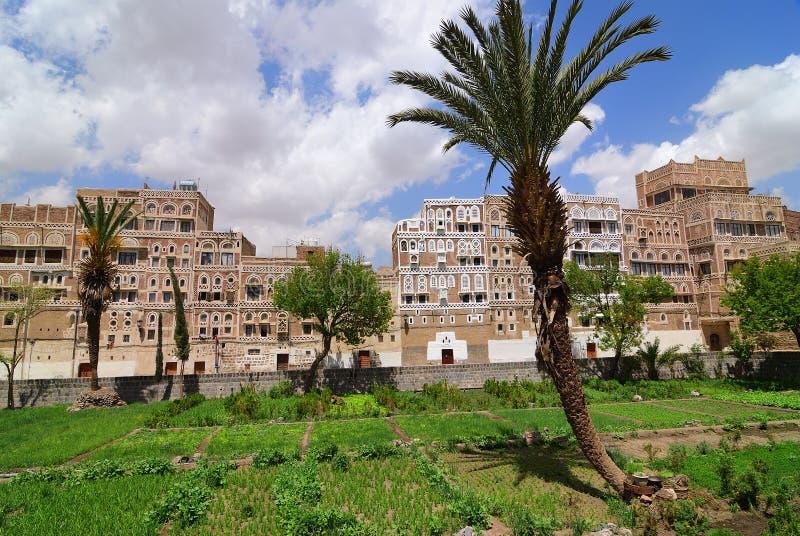yemen Cidade velha de Sanaa fotos de stock royalty free