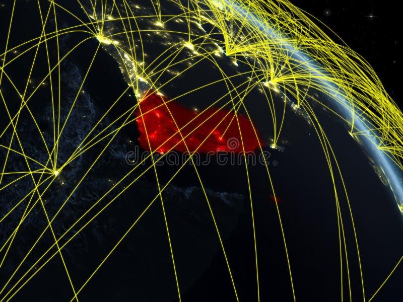 Yemen del espacio con la red libre illustration