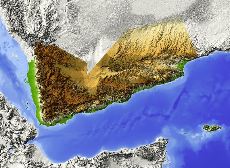 Yemen, Entlastungskarte lizenzfreie abbildung