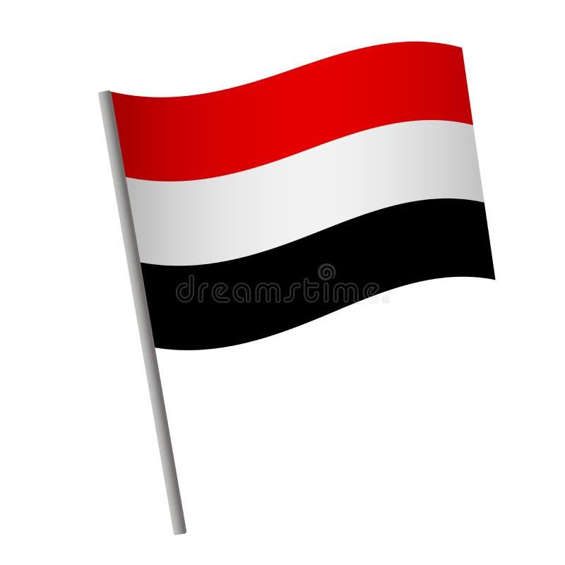 Yemen flag icon stock illustration