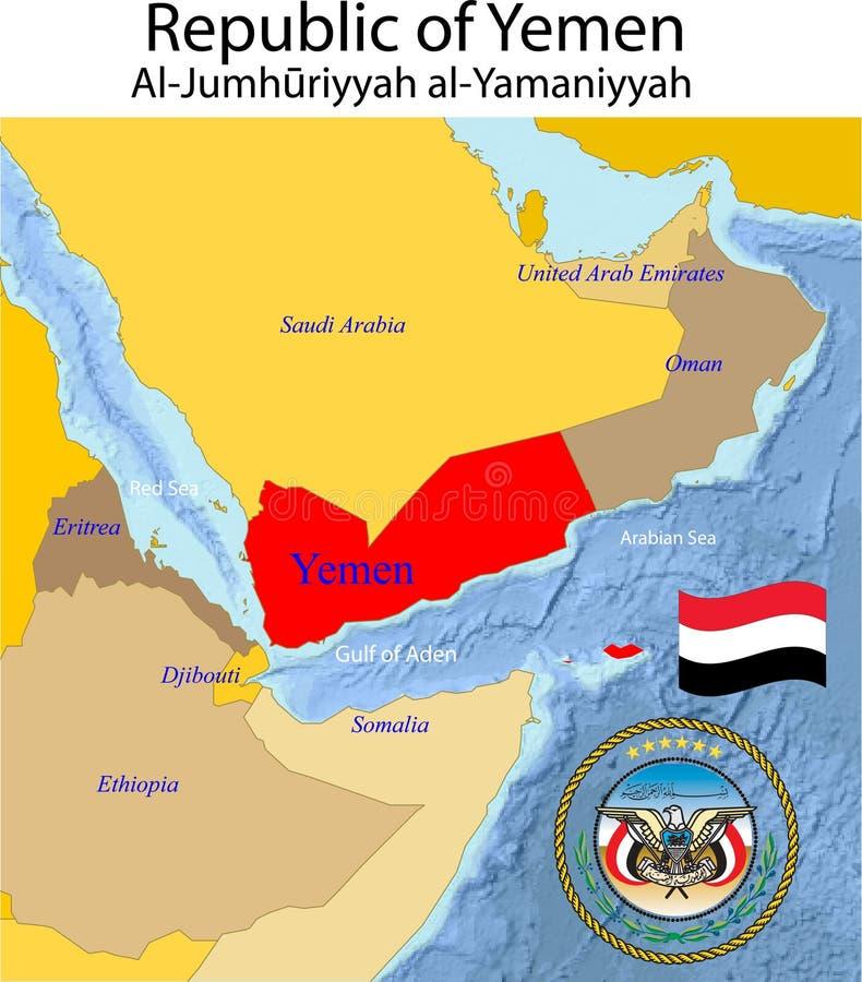 Yemen-Karte. lizenzfreie abbildung