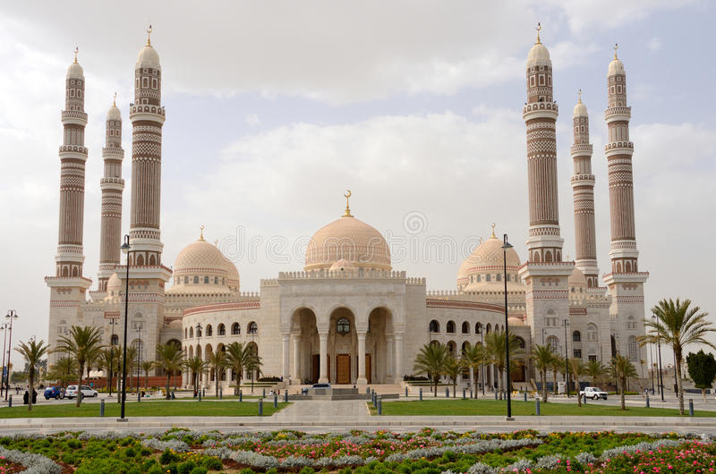Yemen, Sana'a: Al-Saleh Mosque foto de archivo
