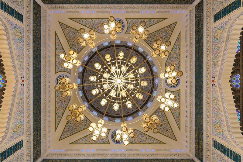 Yemen. Sanaa. Mezquita de Saleh fotos de archivo