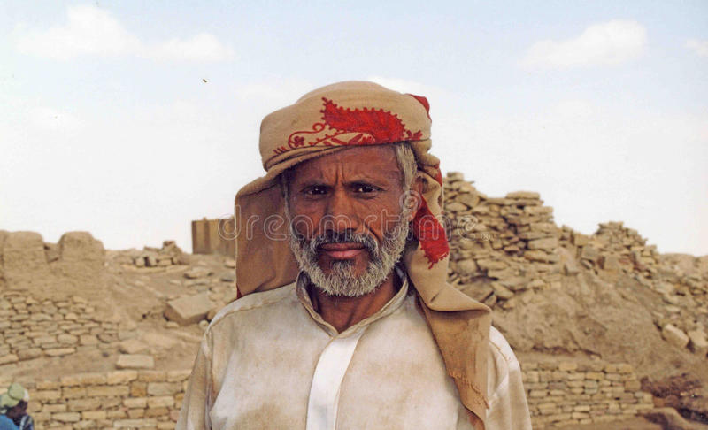 Yemeni anziano immagine stock