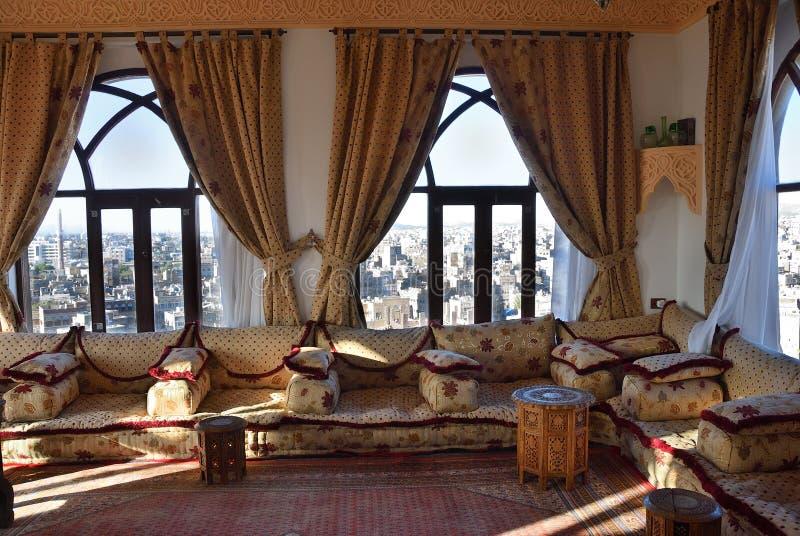 Yemeni interiors, Sanaa stock photography