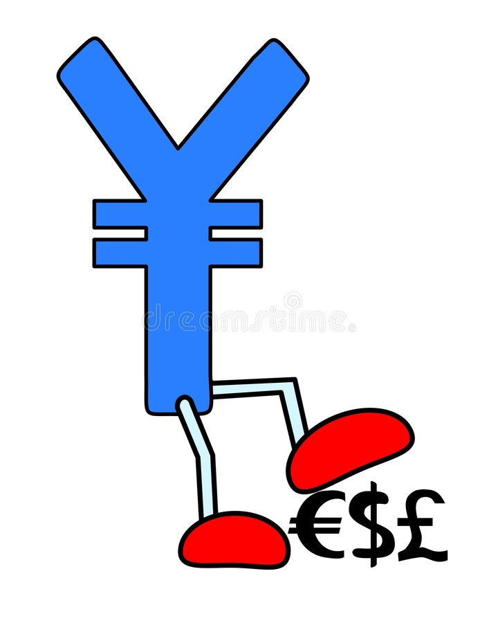 yen vektor illustrationer