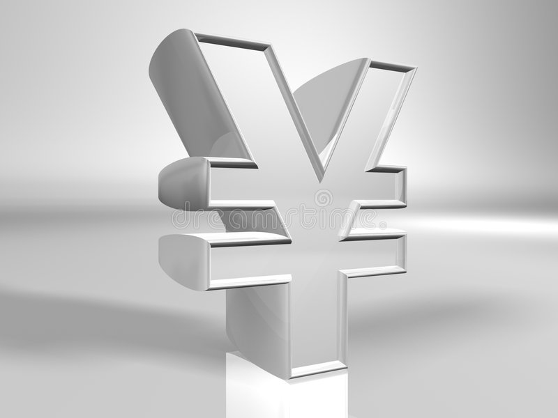 Yen Currency Sign Stock Image