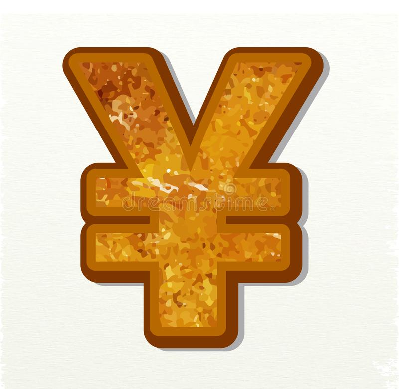 Yen Currency Sign stock de ilustración