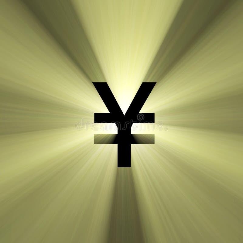 yen för tecken för valutasignalljuspengar royaltyfri illustrationer