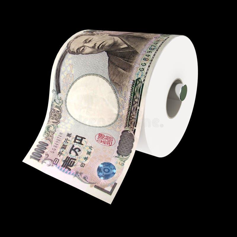 Yen lost power stock illustration