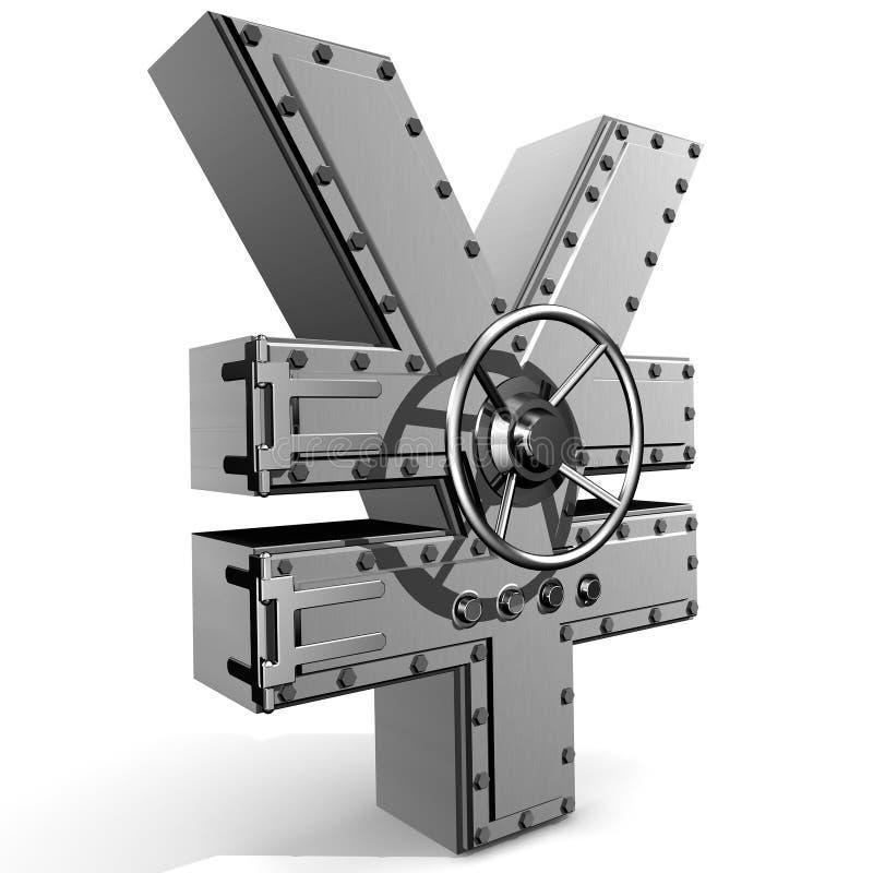 Yen symbol stock photos