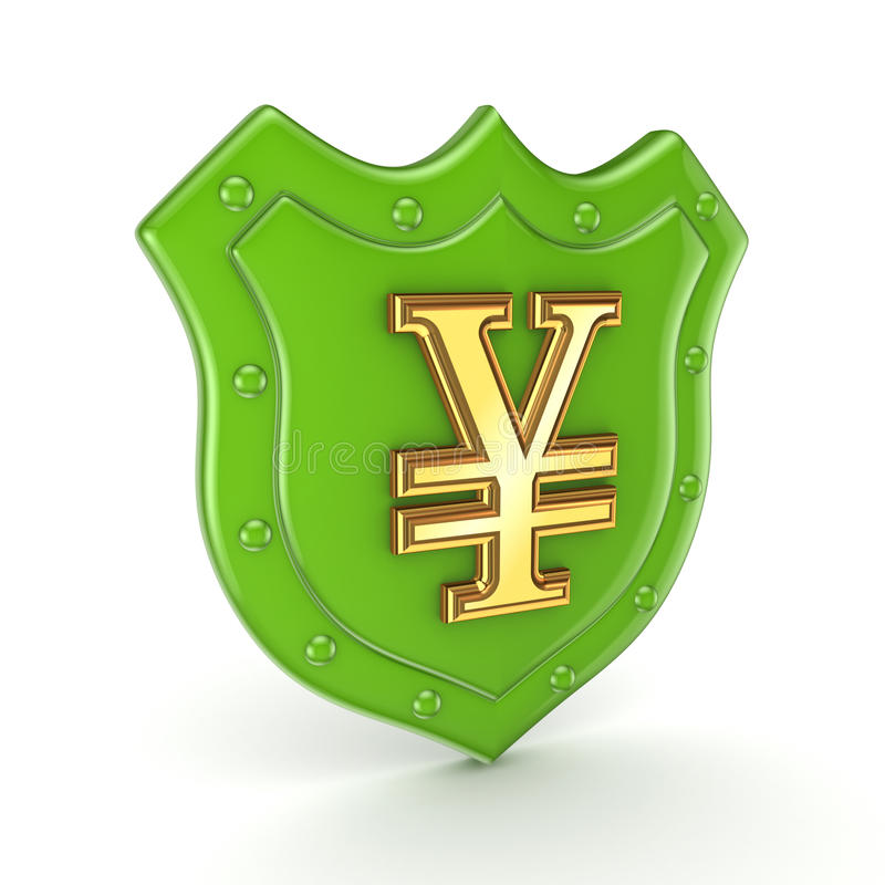 Yen Symbol On A Backplate. Royalty Free Stock Photography