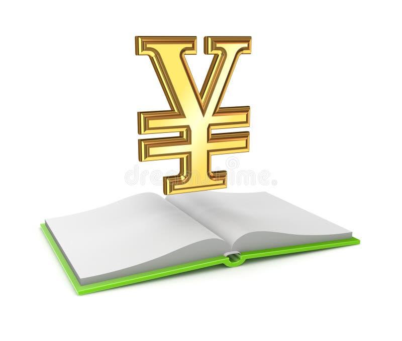 Yen Symbol And Opened Empty Book. Stock Image