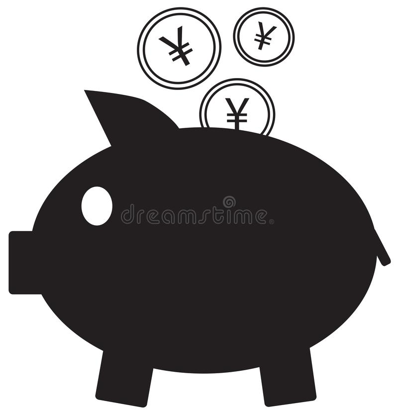 Yen Yuan Or Renminbi Currency Icon Or Logo On Coins Entering A