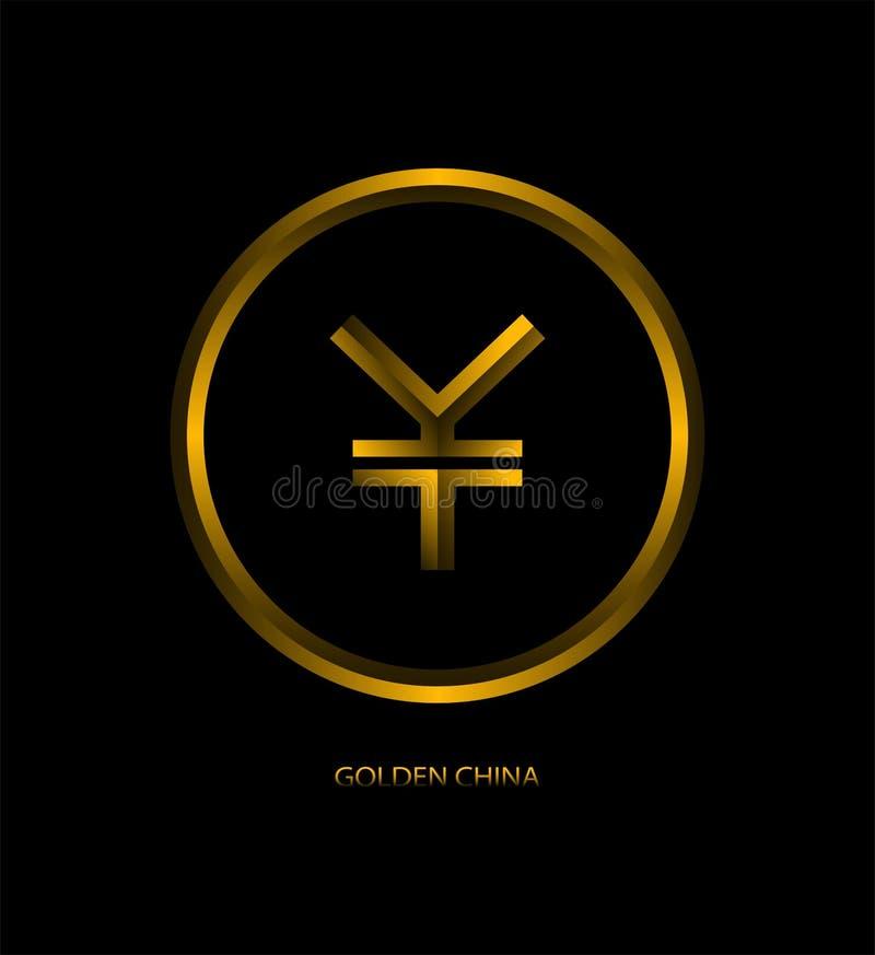 Yenes de la moneda de oro del diseño ilustración del vector