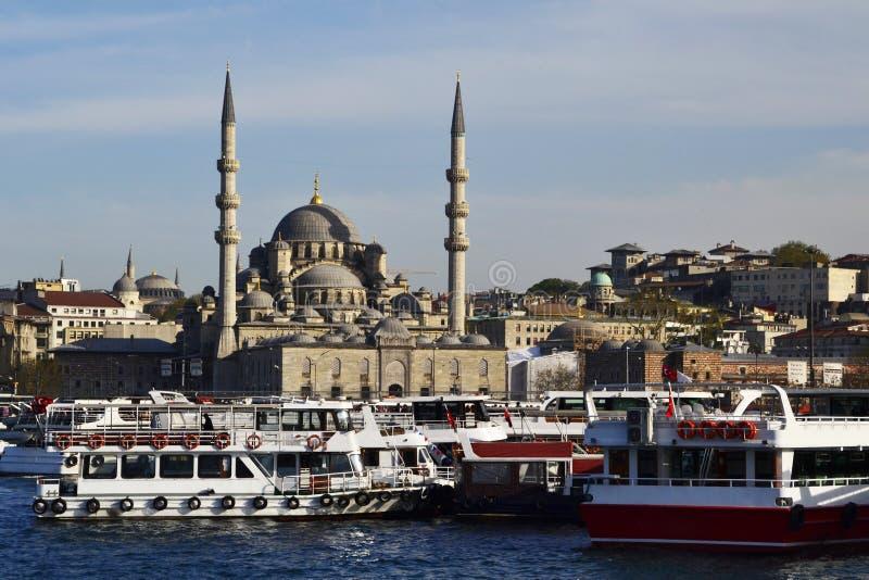 Yeni Camii, a mesquita nova, Istambul, Turquia foto de stock royalty free