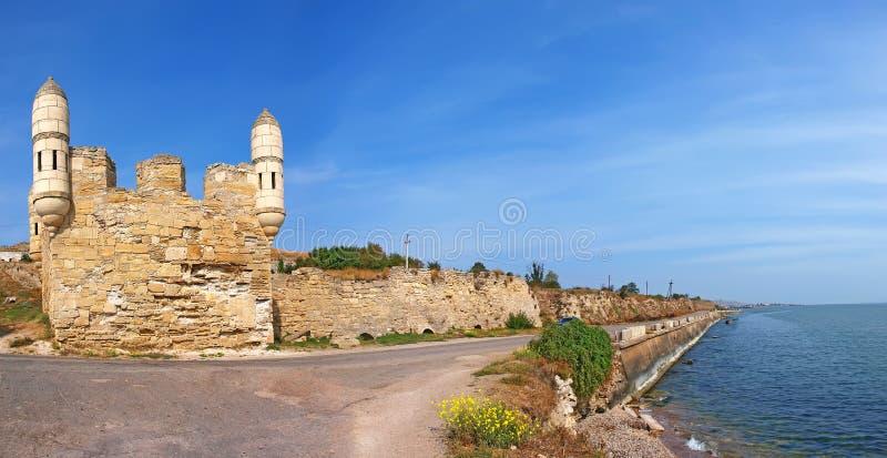 Yeni-Kale, turkish fortress in Kerch, Crimea royalty free stock photos