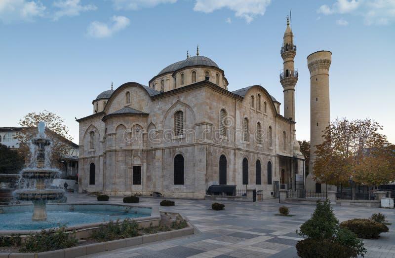Yeni Mosque-mening in de Stad van Malatya Yeni Mosque is populer toeristische attractie in de Stad van Malatya stock fotografie