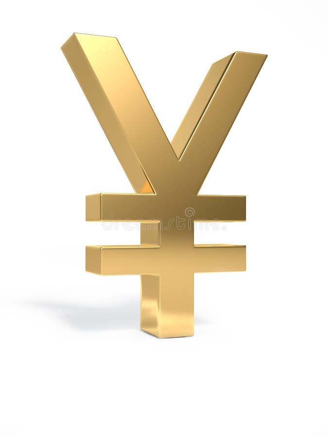 Yens d'or de signe photo libre de droits