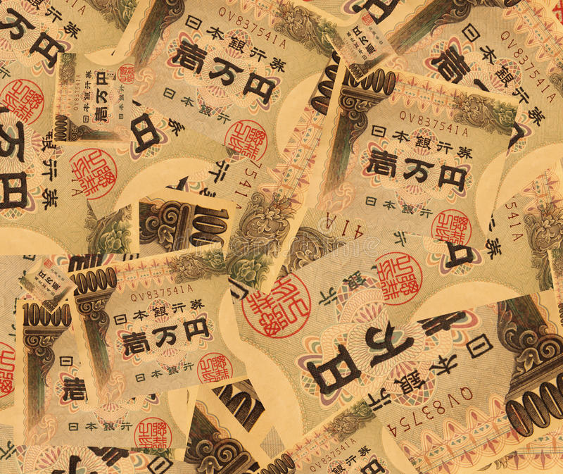 Yens de dix-millièmes photos stock