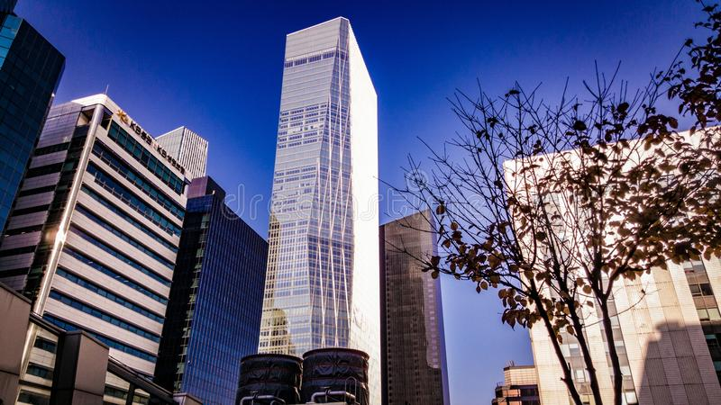 Yeo-ui-do commercial financial business office building stock images