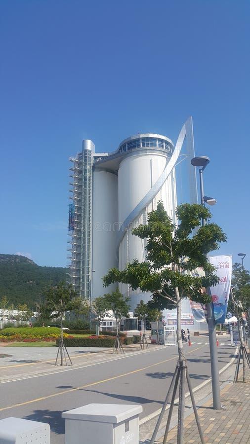 Yeosu Sky Tower stock photos